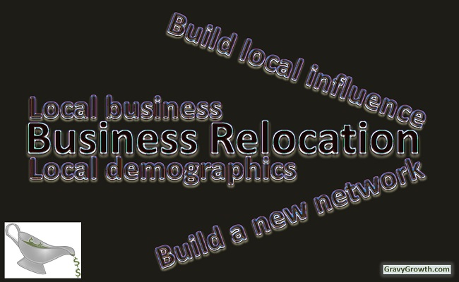 business relocation, networking, demographics, building influence, Greg Hixon, GravyGrowth, business, entrepreneurship, business startup